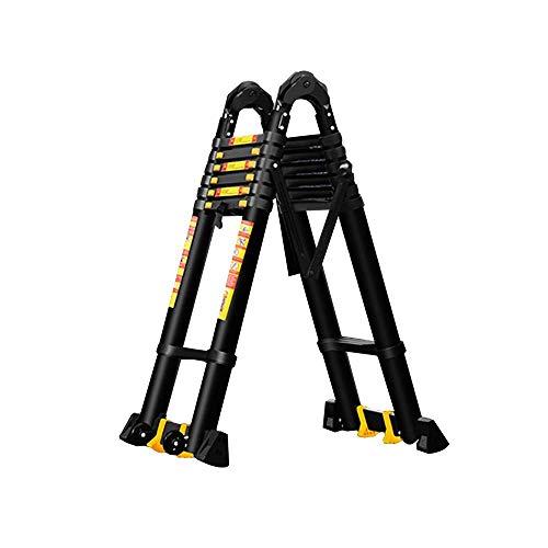 WGFGXQ Escalera de unión Escalera Plegable, aleación de Aluminio Plegable Gruesa Telescópica Escalera de unión Grande Adecuado para Escalera doméstica Escalera de ingeniería de elevación multifunci