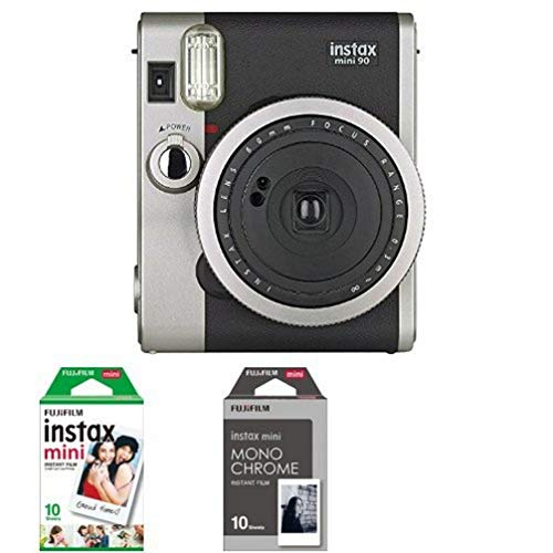 Appareil photo instantané Fujifilm INSTAX MINI 90 Noir + 1x10 Films + 1x10 Films Monochrome