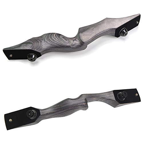 ZSHJG Recurvebogen RH Rechtshand Mittelteil Bogen Riser Holz Bogengriff Bogenschießen Holzbogen Riser Griff (Black)