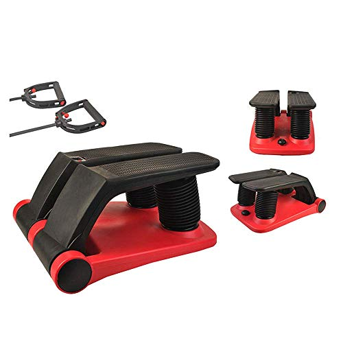 INTBUYING Stepper Fitness Stair Stepper Portable Twist Stair Stepper Adjustable Resistance Fitness Exercise Machine with Resistance Bands LCD Display and Comfortable Foot Pedals
