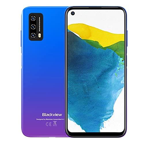Blackview A90 Android 11 Smartphone ohne Vertrag, Helio P60 Octa-core, 4GB RAM 64GB (128GB erweiterbar), 6.39 Zoll In-Cell-Dispaly, 12MP+8MP AI-Rückkamera, 4280mAh Akku, NFC, 4G LTE Dual SIM Handy