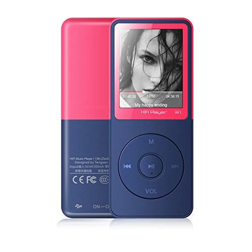 Lettore MP3 Bluetooth,Vorstik HIFI MP3 lettori musicali , Lettore Musicale Digitale con HD 2.4 Pollici con radio FM , Riproduzione Fino a 90 ore, Memoria Esterna da 128 GB.