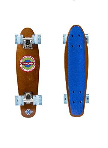 Kryptonics 57,1cm Holz Torpedo komplett Skateboard, blau