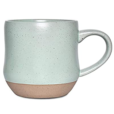 Bosmarlin Large Stoneware Coffee Mug, Big Tea Cup for Office and Home, 17 Oz, Dishwasher and Microwave Safe, 1 PCS (Mint Green, 1)