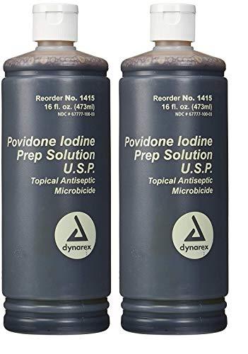 Povidone Iodine Prep Solution USP, 16 Fluid Ounce (2- Pack)
