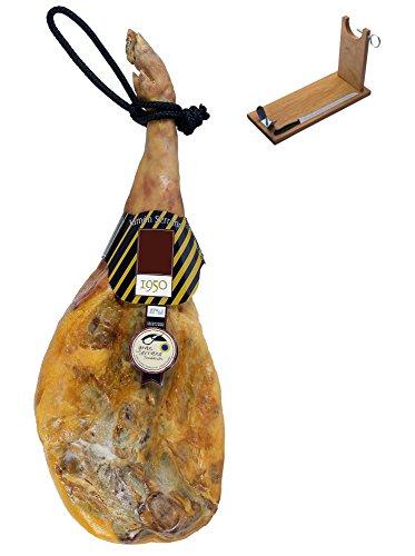 Serrano Schinken Gran Reserva Mayoral + Schinkenhalter + Messer 7.5 - 8 Kg - Spanischer Schinken