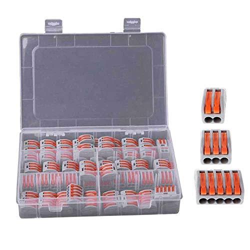 Cmstop 60 unids/set bloque de terminales de tuerca de palanca de resorte, conector de Cable eléctrico reutilizable, herramientas para el hogar de soldadura aislante