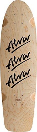 Alva 1979 Tri-Logo Deck - 10x30 Nat/Black w/Grip by Alva Skateboards