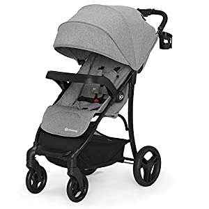 Kinderkraft Lightweight Stroller Cruiser, Baby Pushchair, Foldable, Lying Position, All Wheels Suspension, Big Ajustable Hood, with Accessories, Footmuff, from Birth to 3.5 Years, 0-15 kg, Gray   2