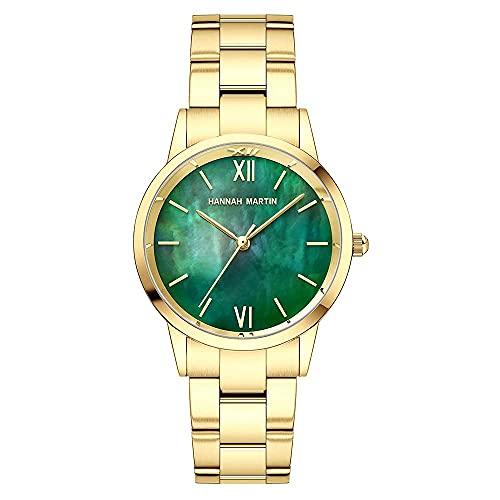 YIXINHUI Reloj de Cuarzo Mujer Moda clásico pequeño dial de Acero Banda de Malla Impermeable Reloj de Cuarzo Chicas Simple Regalo Casual Reloj Moda Reloj (Color : A)