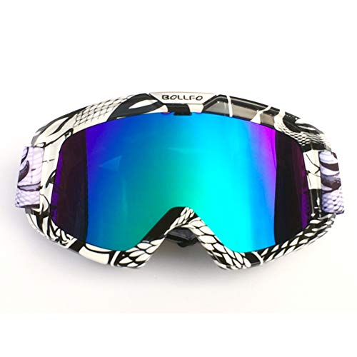 HONCENMAX Motorcycle Goggles Motocross Glasses For Helmet Fog-proof Windproof Riding Bike UV Protection Sunglasses Mask for ATV Off Road Racing Motorbike Ski Snowboard Goggles