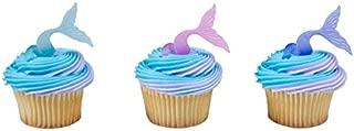Mermaid Tail Wrap Cupcake Rings - 24 pc