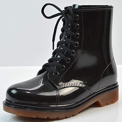 Huishoudelijke producten Transparante vrouwen Martin Laarzen Print Jelly Laarzen Schoenen Dames Duidelijke Regenlaarzen Glanzend Lace-up Bloem Patroon Lady Boots Praktische dagelijkse benodigdheden vo