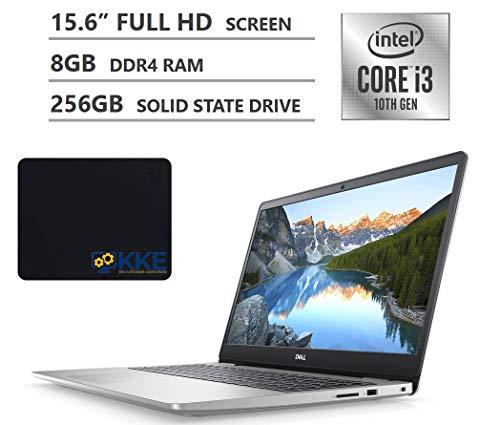 "2020 Newest Dell Inspiron 15 5000 Series Laptop, 15.6"" Full HD Screen, 10th Gen Intel Core i3-1005G1 Processor, 8GB DDR4 RAM, 256GB Solid State Drive, HDMI, Wi-Fi, Bluetooth, Windows 10 Home, Silver"