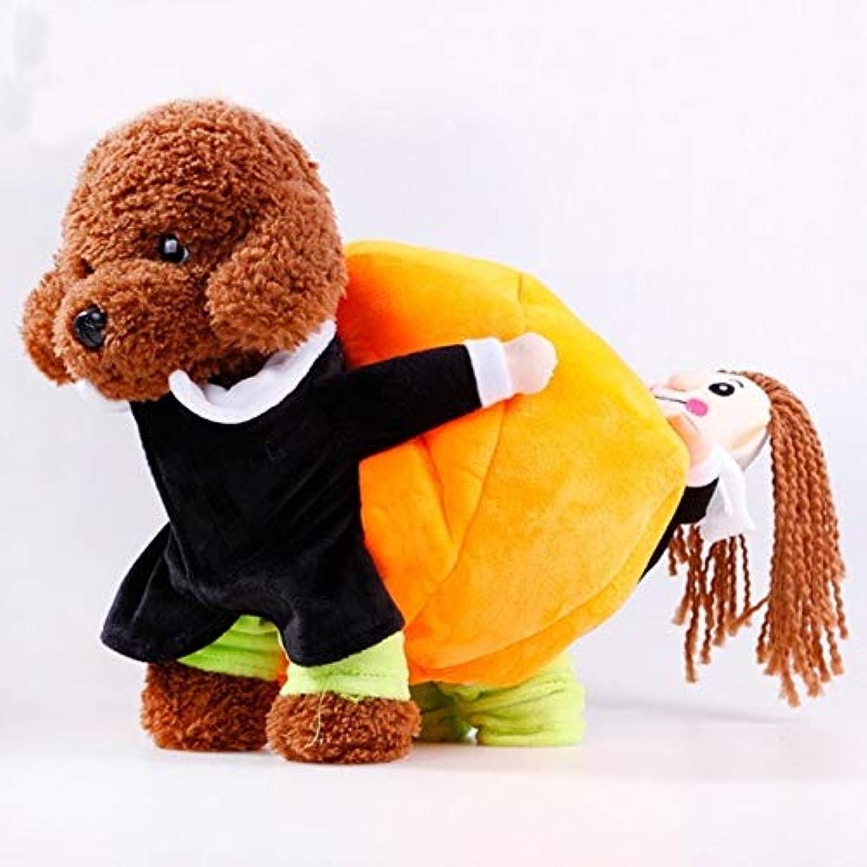 Dog Coats & Jackets  Pet Cotton Cloth Warm Halloween Costume Set Carrying Pumpkin Dog  Bear Base Bag Extend Bulge Expect Traveling Transmit Purse Execute Bagful Run Dish  1PCs