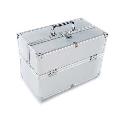 Ardisle Extra Groß Platz Aufbewahrung Beauty Box Make up Schmuck Schminkkoffer Silver #2