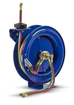 """Coxreels Dual Hose Spring Rewind Hose Reel for """"T"""" grade hose"""