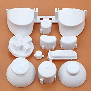 Full Sets A B X Y Z Buttons Direction Key D-pad Mod Button for Gamecube NGC Controller (White)