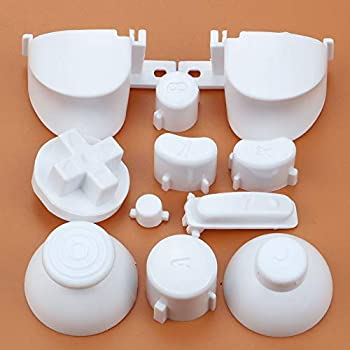 Full Sets A B X Y Z Buttons Direction Key D-pad Mod Button for Gamecube NGC Controller  White