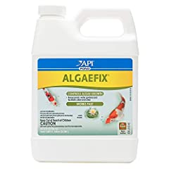 Contains one (1) API POND ALGAEFIX Algae Control 32-Ounce Bottle Effectively controls green water algae, string and hair algae, blanketweed algae Controls green water to keep pond water clean and clear in ornamental ponds and water gardens Will not h...