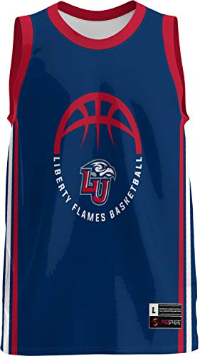 ProSphere Liberty University Basketball Men's Basketball Jersey (Classic) 21D19A3D Blue and Red