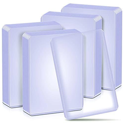 baseball card protectors 40 Toploaders Card Sleeves Hard Plastic for Trading Card, Baseball Card Protectors Top Loaders Card Sleeves Holder Fit for MTG, Yugioh, Sports Card