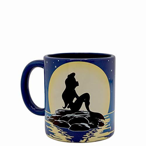 Silver Buffalo Disney's Ariel in The Moonlight with Flounder Spinner Mug, 20-Ounce, Blue