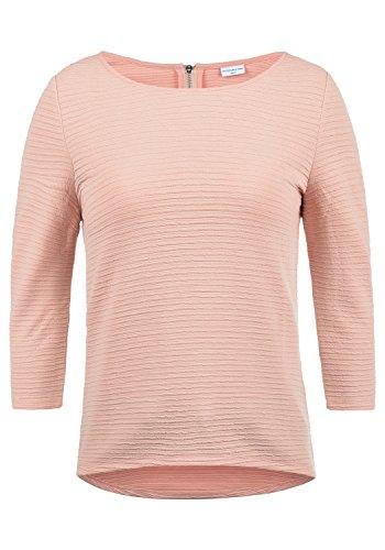ONLY Gretel Damen Sweatshirt Pullover Sweater Mit Rundhalsausschnitt, Größe:M, Farbe:Rose Smoke
