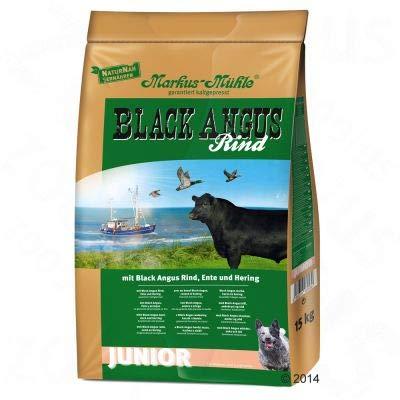 Markus Mühle Black Angus Junior Komplett Trockenfutter ohne chemische Farbstoffe, Aromen und Konservierungsstoffe, ideal für Hunde mit Lebensmittelunverträglichkeit 15 kg