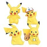 FFLSDR 9 CM 4pcs / Set Pokemon Pikachu Pikachu Anime Figuras De Acción Juguetes Mini Pikachu Figura Regalos Regalos Juguetes De Navidad (Color : 4PCS)