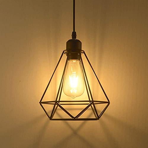 Lámpara colgante Retro Vintage iluminación de techo Iluminación E27 Capacidad AC220 - 240 V (forma de jaula)