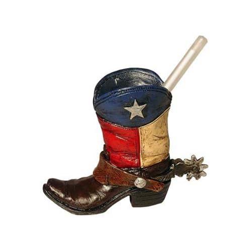 Mini Texas Flag Boot Toothpick Pen Holder Vase Tiny Cowboy Boot Decoration bdecb050f376
