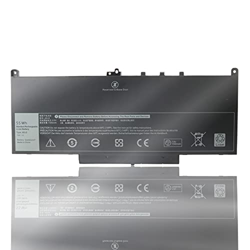 Yenyoh J60J5 Laptop Battery Replacement for Dell Latitude E7270 E7470 Notebook UltraBook fit MC34Y 0MC34Y R1V85 242WD 451-BBSX 451-BBSY 451-BBSU PDNM2 1W2Y2 GG4FM WYWJ2 P26S001 P61G001 7.6V 55WHr