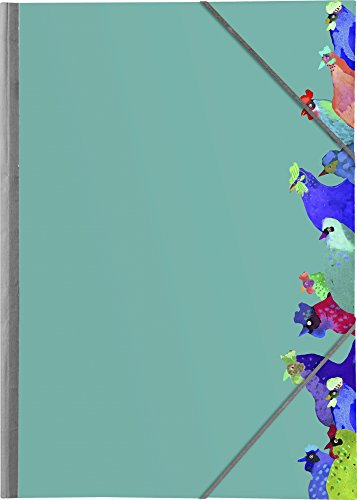 Clairefontaine 115267C - Un carton à dessin à élastiques Les Coquettes 32,5 x 45 cm
