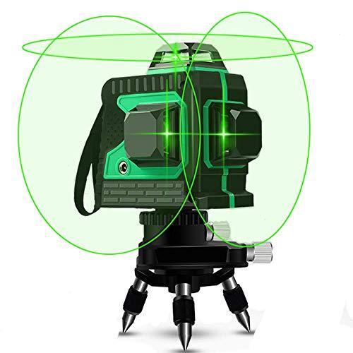 JKDSFN 3D Grüne Lichtstrahl-Laser-Niveau 360 Grad Querlinien 100 Feet Indoor - Flugzeug Leveling Und Ausrichtung-Laser-Mini-Stativ Mit Basis,Grün