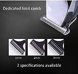 Yeziyi Barba Trimmer Hombres inalámbrico Pelo Trimmer Clipper Trimmer Bigote Cuerpo Groomer Kit recortador de precisión Nose Trimmer USB Recargables Impermeables 5 en 1 for no -Slip
