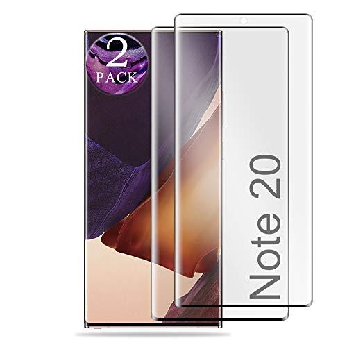 aiMaKE Galaxy Note 20 Panzerglas Schutzfolie,[Anti-Kratzen][Anti-Öl],2 Stück 3D Full Coverage Panzerglas Displayschutzfolie Für Samsung Galaxy Note 20