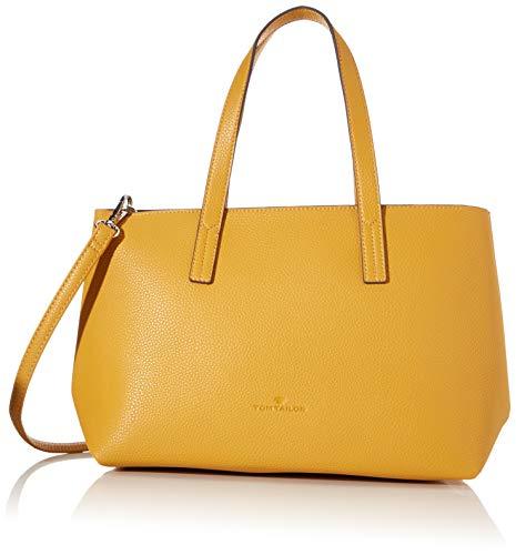 TOM TAILOR Shopper Damen, Gelb, Marla, 34x12x21 cm, Handtasche, Umhängetasche