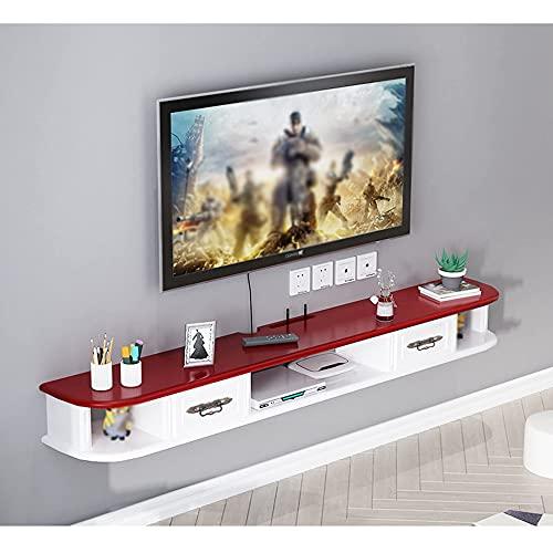 PPOIU Consola de TV Soporte de TV Gabinete montado en la Pared, Unidad de Entretenimiento Flotante Adecuado para/DVD/CD/Equipo AV/Sala de Estar/A / 150 × 24 × 15cm