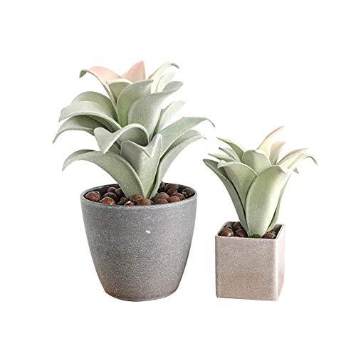 Yw-Flower Mini kunstplanten set van 4, binnen en buiten nep planten, bureau badkamer keuken decoratief, 9.8inch