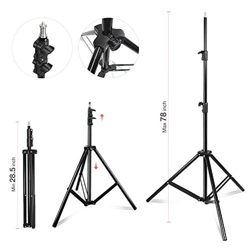 Julius Studio Photography Continuous Equipment Softbox 800W Lighting Kit with E27 Socket Light and 20