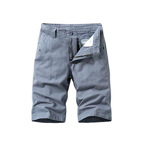 KPILP Herren Shorts Kurze Cargo Hose Mit Taschen Bermuda Kurze Hose mit Reißverschluss Jogginghose Sport-Hose Regular Fit Drucken Shorts