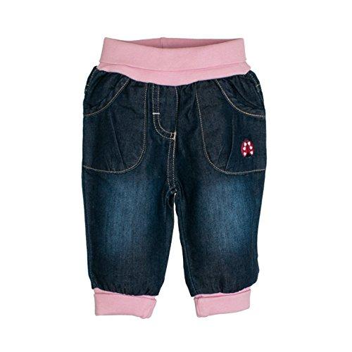 Salt & Pepper Baby-Mädchen NB Glück mit Bund Jeans, Blau (Original 099), 62
