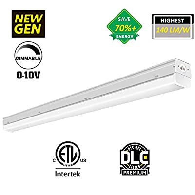 GOOLSUN 4FT LED Garage Shop Light, 38W 5300 Lumens, LED Wraparound Ceiling Light Fixture, 5000K Daylight White, LED Linear Flushmount Lighting, DLC Premium 4.2 Qualified, 150W Replacement