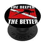 El más profundo el mejor buzo bandera buceo submarino PopSockets PopGrip Intercambiable