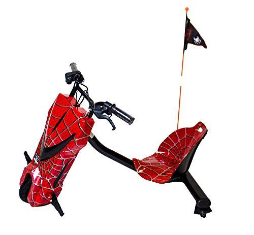 Gran Scooter Patinete con Silla Boogie Drift 36D (250W, Batería Litio, 3 Velocidades, Vel. Máx 15km, Luz Delantera, Pantalla LCD) – Rojo