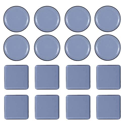 16 Pcs Deslizadores para Muebles,PTFE Teflón Redondos Autoadhesivos Planeadores para muebles, Mover Muebles Pesados para Pisos Lisos Protector Patas Sillas Protectores para Patas de Mesa