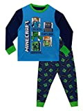 Minecraft Pijamas de Manga Larga Steve y Creeper para Niños Multicolor 5-6 Años