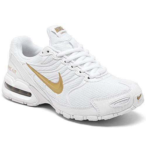 Nike Womens Air Max Torch 4 Running Shoe (White/Metallic Gold, Numeric_6_Point_5)