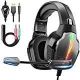 FISHOAKY Cascos Gaming PS4 PC Xbox One, Gaming Auriculares con Microfono, Cascos Gamer con Jack 3.5m...